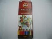 Набор акварельных цветных карандашей 18 цв. Mondeluz KOHINOOR 3717