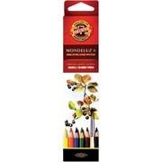 Набор акварельных цветных карандашей 6 цв. Mondeluz KOHINOOR 3715