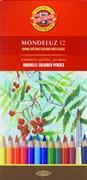 Набор акварельных цветных карандашей 12 цв. Mondeluz KOHINOOR 3716