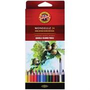 Набор акварельных цветных карандашей 24 цв. Mondeluz KOHINOOR 3718