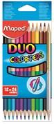 Набор цветных карандашей 12 шт.=24 цв. Maped colorpeps 829600