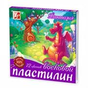 Пластилин ЛУЧ ФАНТАЗИЯ восковой 12 цветов 210 г, со стеком 25С1523-08