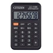 Карманный калькулятор CITIZEN LC 110NR 8-разрядный, чёрный