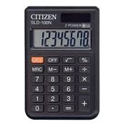Карманный калькулятор CITIZEN LC-100 8-разрядный, двойное питание, чёрный