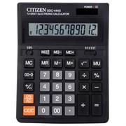 Калькулятор CITIZEN SDC-444S 12-разрядный бухгалтерский черный
