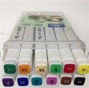 Маркеры для скетчинга 12 цветов LANKE LK606